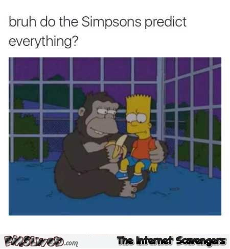 The Simpsons predicted the gorilla story humor @PMSLweb.com