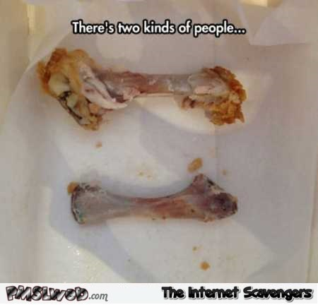 There's two kinds of people funny chicken meme @PMSLweb.com