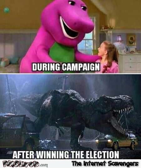 Funny politicians before versus after meme @PMSLweb.com