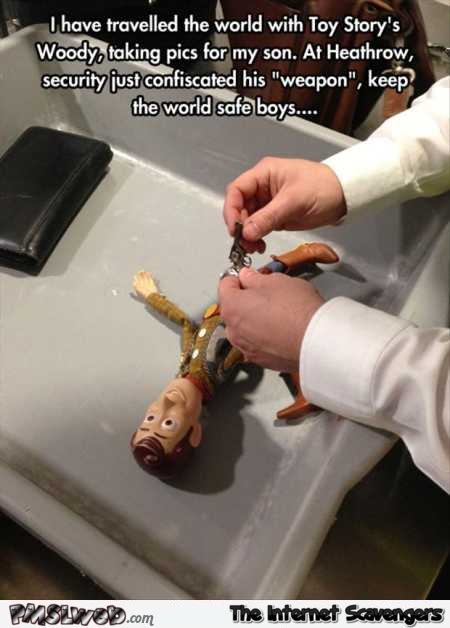 Woody at Heathrow funny meme – Funny Sunday picture collection @PMSLweb.com