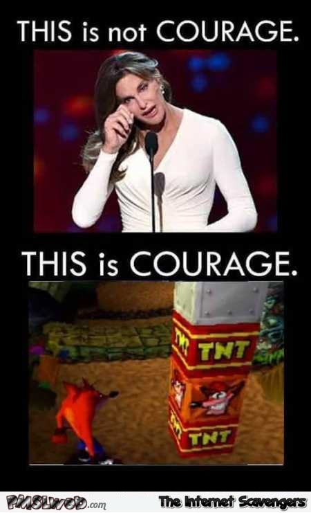 Funny definition of courage @PMSLweb.com