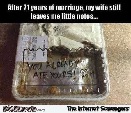 My wife still leaves me little notes humor – Rib tickling Wednesday @PMSLweb.com