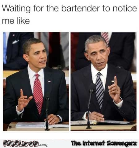 Funny waiting for the bartender to notice you – Sunday hilarity @PMSLweb.com
