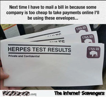 Next time I have to mail a bill humor @PMSLweb.com