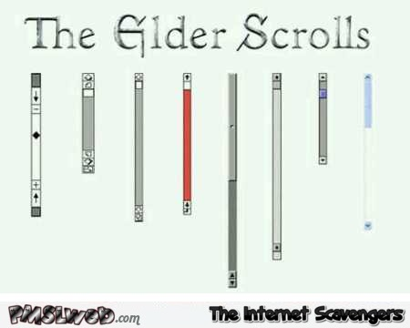 The elder scrolls humor @PMSLweb.com