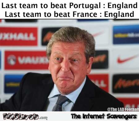 England last team to beat Portugal and France humor