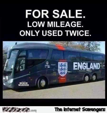 Funny English football bus for sale @PMSLweb.com