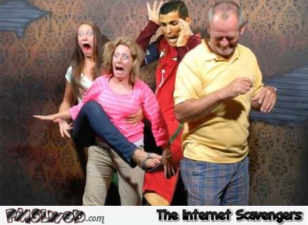 Funny Ronaldo in haunted house photoshop @PMSLweb.com