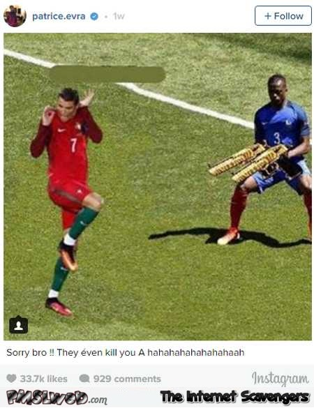Funny Ronaldo and Patrice Evra photoshop