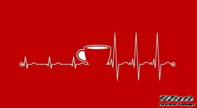 Coffee electrocardiogram line – TGIF hilarious pictures @PMSLweb.com
