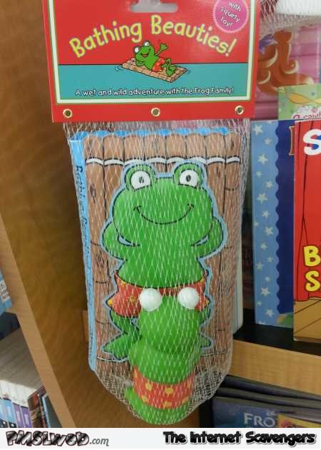 Funny bathtub frog toy fail @PMSLweb.com