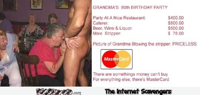 Grandma sucking stripper priceless humor @PMSLweb.com