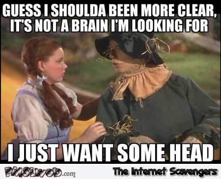 Wizard of Oz scarecrow adult humor @PMSLweb.com