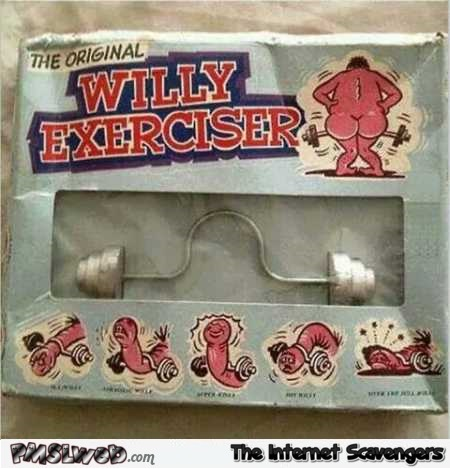 Funny willy exerciser gadget @PMSLweb.com