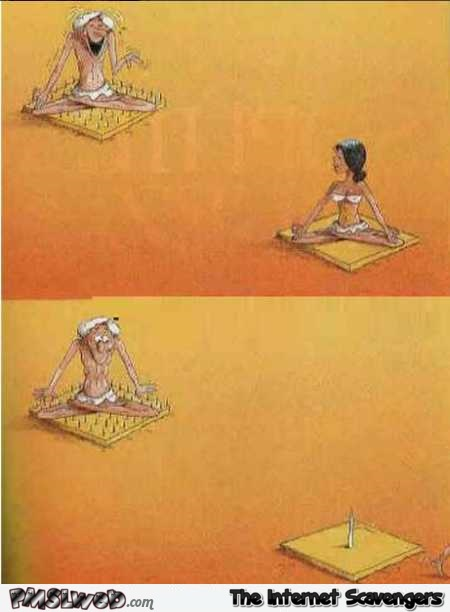Female fakir funny cartoon