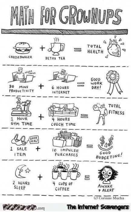 Funny math for grownups cartoon