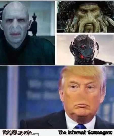 Villains don't have noses Trump humor @PMSLweb.com