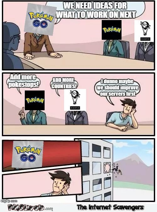 Improve Pokemon Go servers funny cartoon @PMSLweb.com
