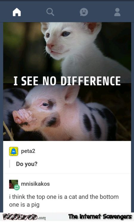 Funny answer to PETA post @PMSLweb.com