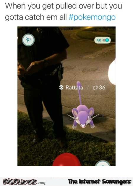 Pokemon appears next to Police officer humor – Pokemon Go funny pictures @PMSLweb.com