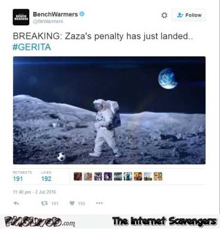 Zaza's penalty has just landed funny tweet @PMSLweb.com