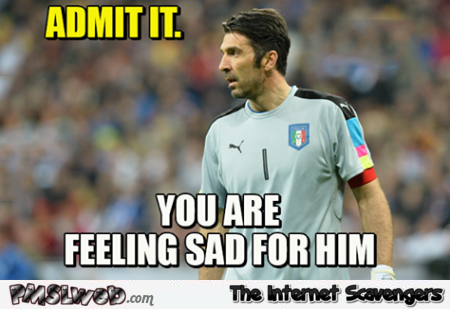 We all feel sorry for Buffon meme – Euro 2016 memes and funny pictures @PMSLweb.com