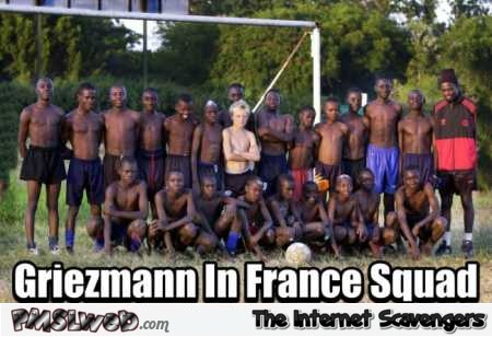 Griezmann in French squad funny meme @PMSLweb.com