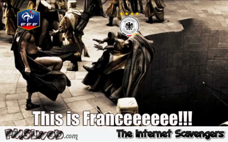 France beats Germany in Semi funny meme @PMSLweb.com