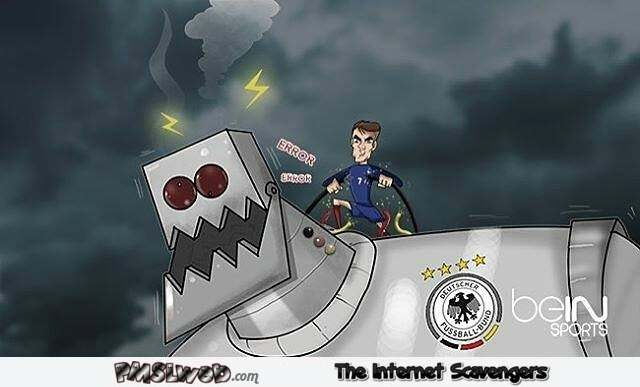 Griezmann defeats Germany funny cartoon @PMSLweb.com