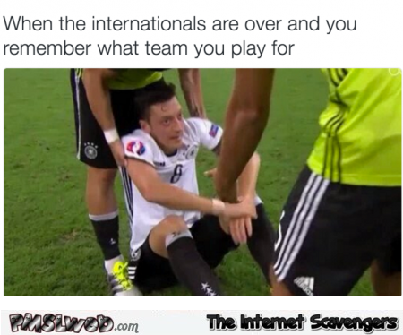 When Özil remembers what team he plays for humor @PMSLweb.com