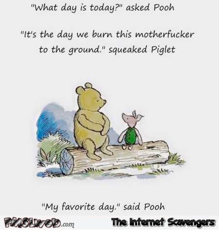 Funny sarcastic Winnie the Pooh – Sunday funniness @PMSLweb.com