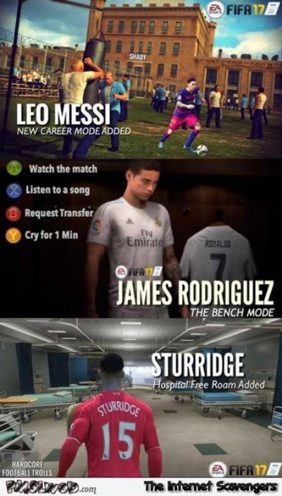 Funny FIFA 17 new carreer modes