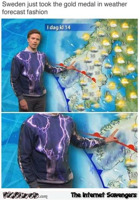 Funny Swedish weather forecast wins the internet