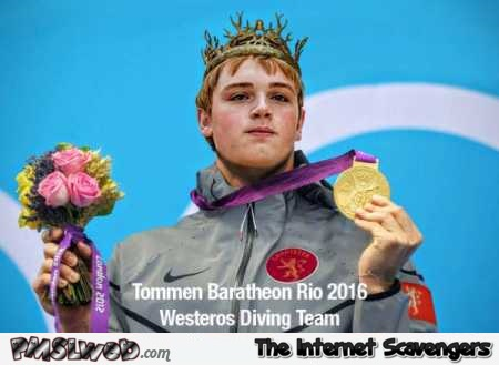 Westeros diving team wins gold humor