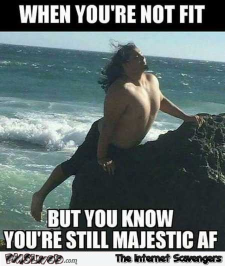 When you're not fit but still majestic AF funny meme – Funny pictures of the day @PMSLweb.com
