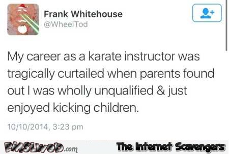 Career instructor funny tweet @PMSLweb.com