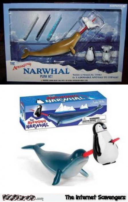 Avenging Narwhal play set weird WTF toy