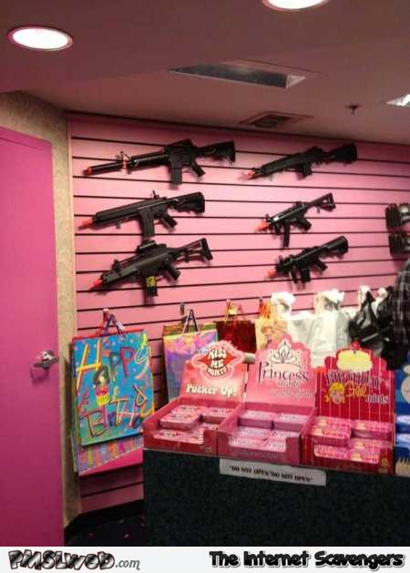Toy shop Gun placement fail @PMSLweb.com