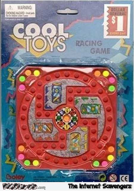 Nazi design racing game toy fail