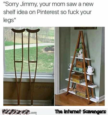 Hilarious pinterest shelf idea @PMSLweb.com