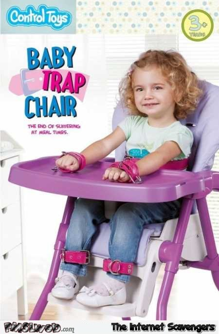 Baby trap chair fail @PMSLweb.com