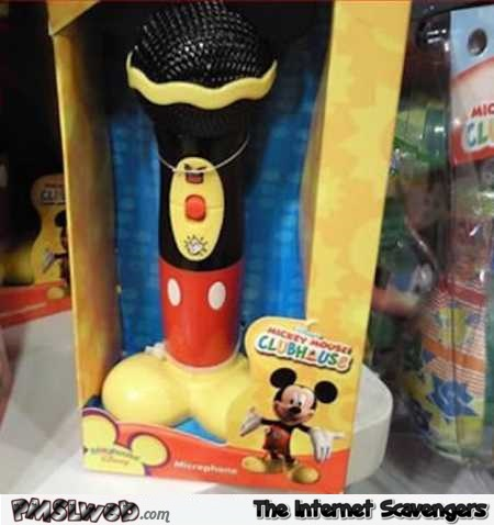 Mickey Mouse microphone design fail @PMSLweb.com