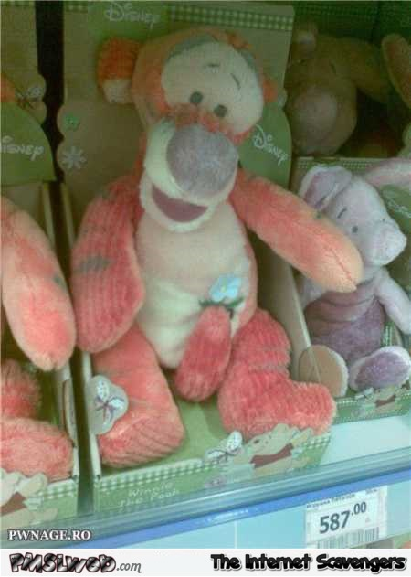 Disney's Tigger soft toy fail