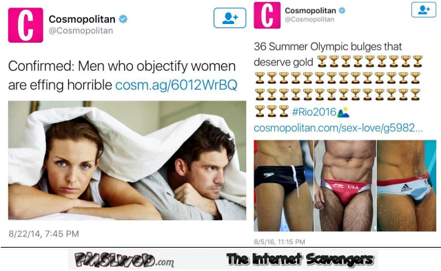 Men who objectify women funny Cosmopolitan fail