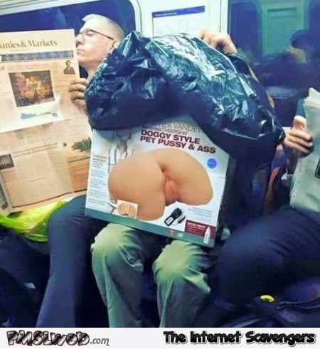 Taking public transportation after buying a sex toy fail @PMSLweb.com