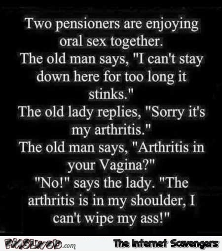 Hilarious pensioners enjoying oral sex joke @PMSLweb.com