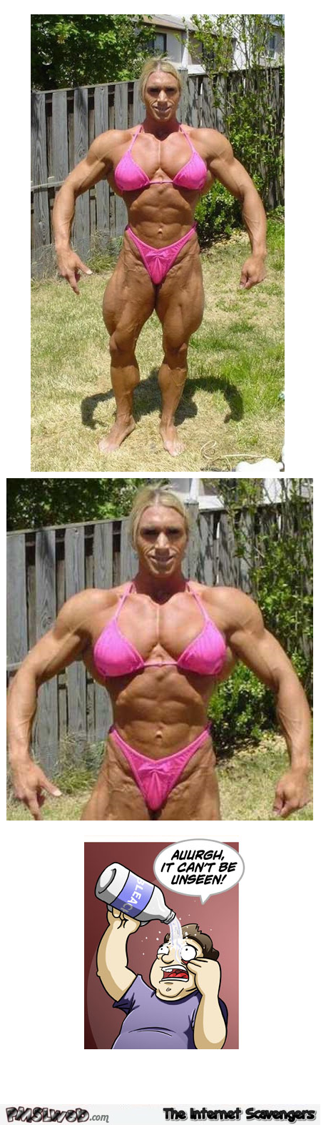 Funny ugly female bodybuilder @PMSLweb.com