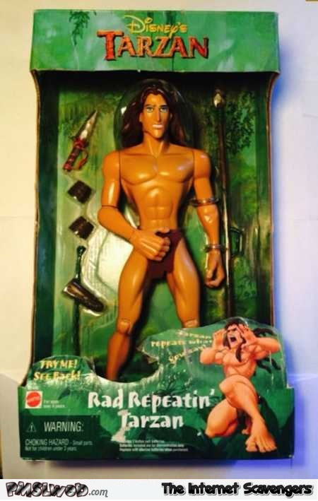 Rad Repeating Tarzan toy fail @PMSLweb.com