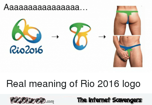 Funny real meaning of Rio 2016 logo @PMSLweb.com