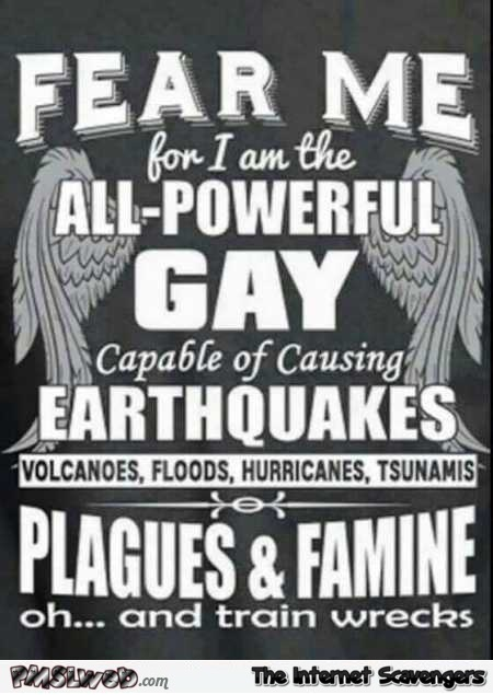 Funny I'm the all powerful gay poster @PMSLweb.com